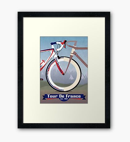 Tour De France Bike Framed Print