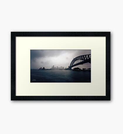 Cold Grey Morning Framed Print