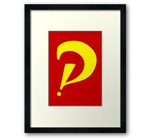 Interrobang perspective (yellow) Framed Print