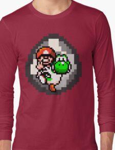 Mario & Yoshi Win Pose Long Sleeve T-Shirt