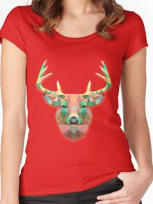 Deer Animals Gift Women's Fitted Scoop T-Shirt