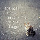The best things in life are not things by netza