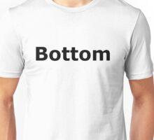 Bottom Black on White T'Shirt Unisex T-Shirt
