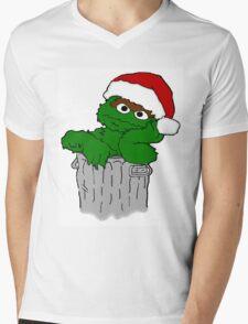 Christmas Oscar the Grouch Mens V-Neck T-Shirt