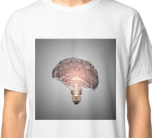 Light Bulb Brain Classic T-Shirt