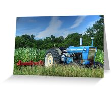 Ford 5000 Tractor Greeting Card