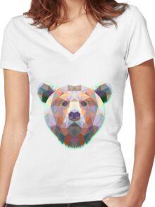 Bear Animals Gift Women's Fitted V-Neck T-Shirt