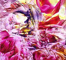Floral Fantasy II (encaustic) by Jacki Stokes