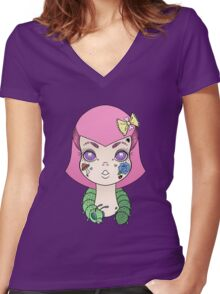 Bug out Women's Fitted V-Neck T-Shirt