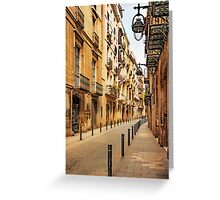 Gothic Quarter Greeting Card