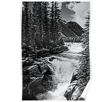 Rushing River - Rockies Poster