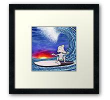 Surf Monkey Framed Print