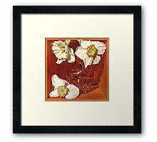Creamy Trumpets of Spring Framed Print
