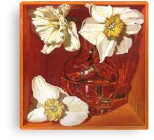 Creamy Trumpets of Spring Canvas Print