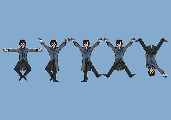 Dancing Sherlock by DoodleDojo