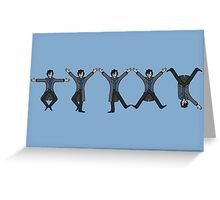 Dancing Sherlock Greeting Card