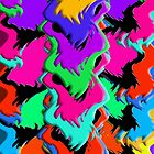 Crazy Colors Waves - Abstract Art by ibadishi