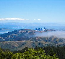 San Francisco from Mt. Tamalpais by David Chesluk