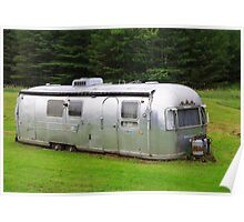 Vintage Airstream Travel Trailer Vermot Poster