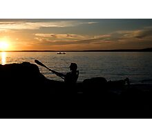 Canoe Trip by Sundown Photographic Print