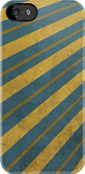 Urban Style Golden Stripes on Blue Backgroun by ibadishi