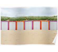 Beach cabines in Domburg Poster