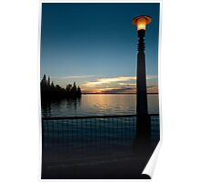 Sunset on the Pier Poster