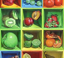 Boxed Still Life: Fruit Series #1 by soothedbyrain