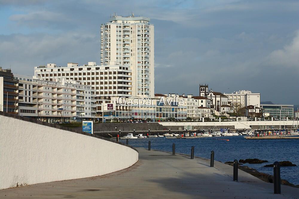 Ponta Delgada waterfront by Gaspar Avila