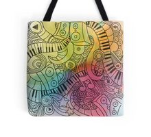 Sheet Music piano  Tote Bag