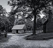 Colonial Virginia Farmstead by Wib Dawson