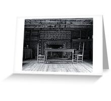 Colonial Farmstead Kitchen Greeting Card