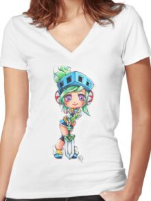 Chibi Arcade Riven Women's Fitted V-Neck T-Shirt