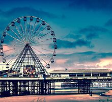 The giant wheel of Blackpool by Rohal Kohyar
