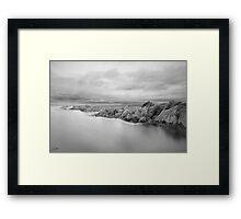 Green End Gulley, Eyemouth Framed Print