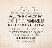 Jesus Loves The Little Children – 2:3 – Tan  by Janelle Wourms