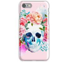 Skull flower art iPhone Case/Skin