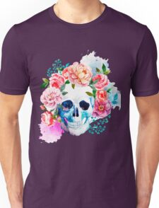 Skull flower art Unisex T-Shirt