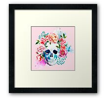Skull flower art Framed Print