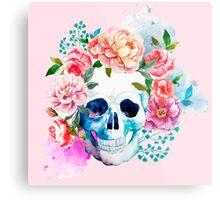 Skull flower art Metal Print