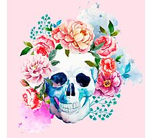 Skull flower art Photographic Print