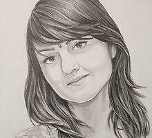 Portrait of my sister by Sukhwinder Flora