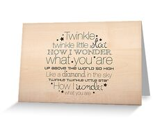 Twinkle Twinkle – 2:3 – Wood  Greeting Card