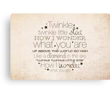 Twinkle Twinkle – 2:3 – Tan  Canvas Print