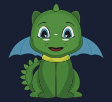 Green And Blue Chibi Dragon One Piece - Short Sleeve