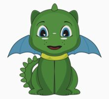 Green And Blue Chibi Dragon Kids Clothes