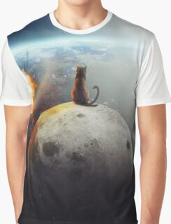 Cat Victory Graphic T-Shirt