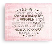 Winkin Blinkin and Nod – 4:5 – Pink  Canvas Print