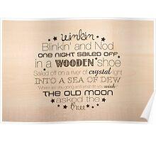 Winkin Blinkin and Nod – 2:3 – Wood  Poster