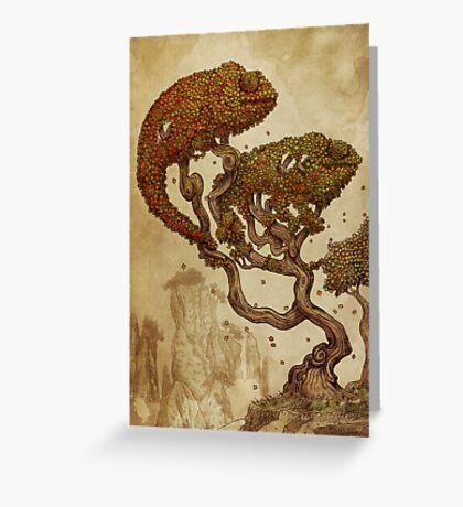 Autumn Chameleons Greeting Card